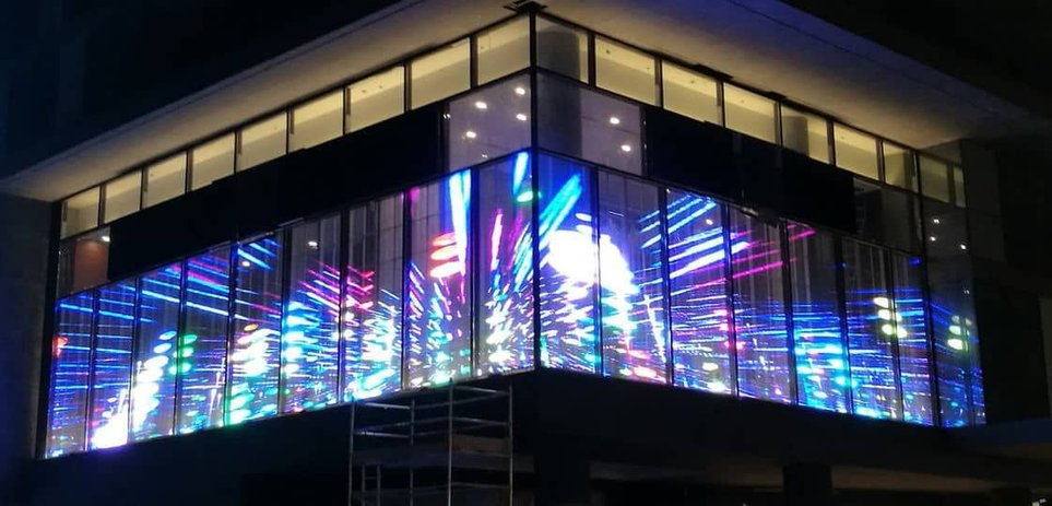 Transparante-LED-schermen