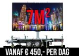 1 dag huren 7m² LEDscherm - Mobiel LED scherm 7m2 verhuur - huur uw LED scherm_