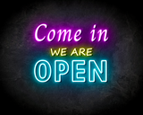 COME IN OPEN neon sign - LED neon reclame bord_