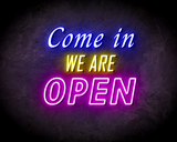 COME IN OPEN DOUBLE neon sign - LED neon reclame bord_