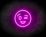 BLINK SMILEY neon sign - LED neon reclame bord_
