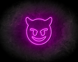 EVIL SMILEY neon sign - LED neon reclame bord_