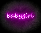 BABYGIRL neon sign - LED neon reclame bord neon letters verlichting_