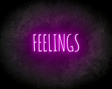FEELINGS neon sign - LED neon reclame bord neon letters verlichting_