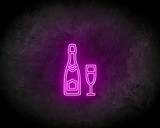 CHAMPAGNE neon sign - LED neon reclame bord_