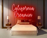 CALIFORNIA DREAMIN neon sign - LED neon reclame bord_