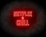 Netflix & Chill LED Neon Sign - Neon verlichting_