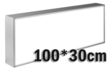LED lichtbak 100x30cm_