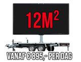 Mobiel LED scherm 12m2 - Verhuur 1 dag_