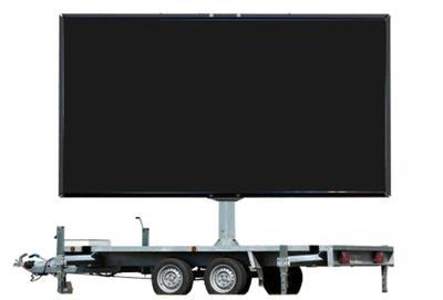 1 dag huren 7m² LEDscherm - Mobiel LED scherm 7m2 verhuur - huur uw LED scherm
