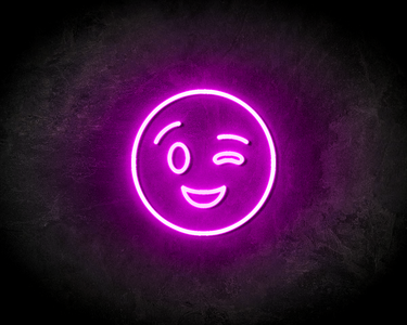 BLINK SMILEY neon sign - LED neon reclame bord