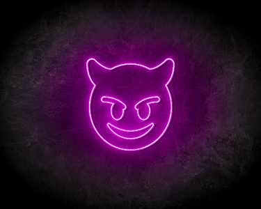 EVIL SMILEY neon sign - LED neon reclame bord