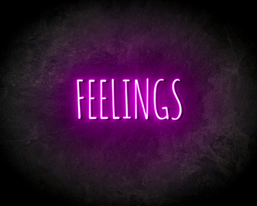 FEELINGS neon sign - LED neon reclame bord neon letters verlichting