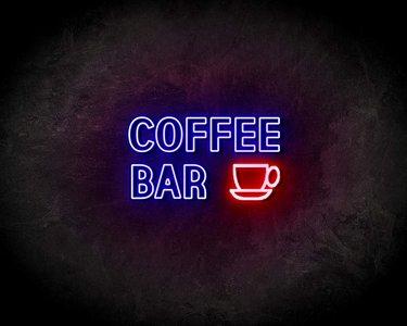 COFFEE BAR neon sign - LED neon reclame bord