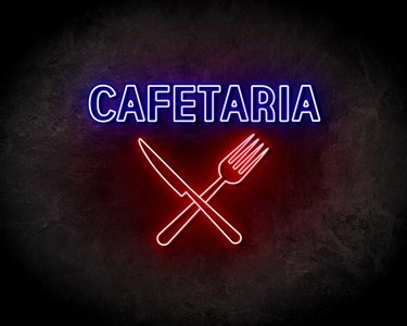 CAFETARIA neon sign - LED neon reclame bord