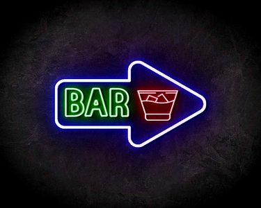 BAR neon sign - LED neon reclame bord