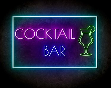 COCKTAIL BAR neon sign - LED neon reclame bord