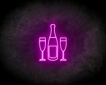 CHAMPAGNE BOTTLE neon sign - LED neon reclame bord