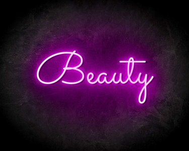 BEAUTY neon sign - LED neon reclame bord neon letters verlichting