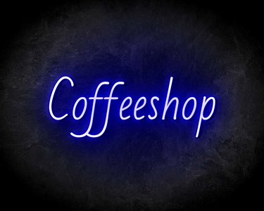 COFFEESHOP neon sign - LED neon reclame bord neon letters verlichting