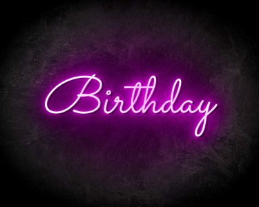 BIRTYDAY neon sign - LED neon reclame bord neon letters verlichting