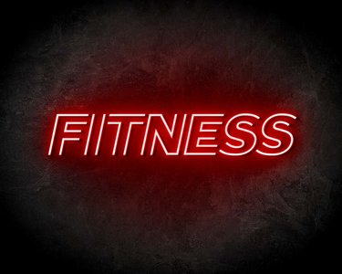 FITNESS neon sign - LED neon reclame bord neon letters verlichting