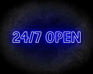 24/7 OPEN neon sign - LED neon reclame bord neon letters verlichting