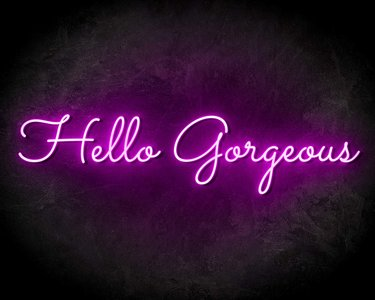 HELLO GORGEOUS neon sign - LED neon reclame bord neon letters verlichting