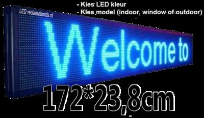 Professionele LED lichtkrant afm. 172 x 23,8 x 7 cm
