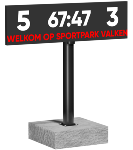 LED scorebord 320 x 90 cm - SMD P6 / Digitaal LED score scherm voor voetbal, hockey etc