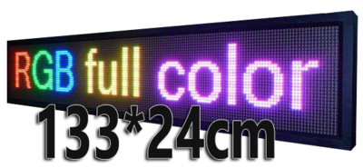 Full Color LED lichtkrant 133*24cm - RGB