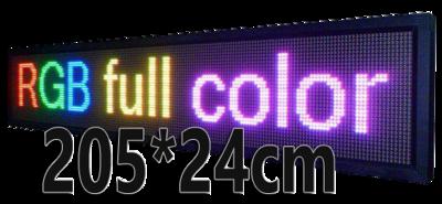 Full Color LED lichtkrant 205*24cm - RGB