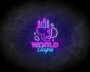VAPE WORLD Neon Sign - Lichtreclame