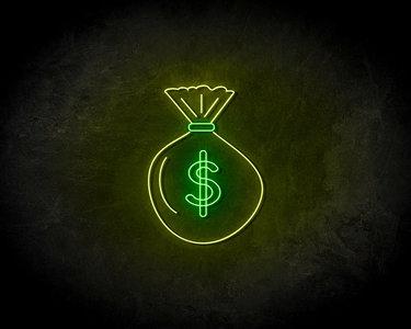 Money Bag LED Neon Sign - Neon verlichting