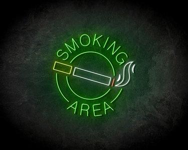 Smoking Area LED Neon Sign - Neon verlichting