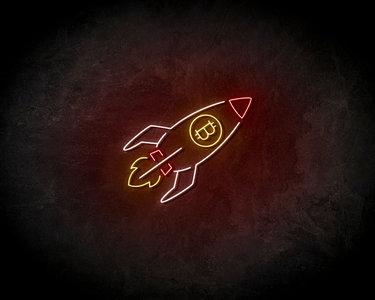 Bitcoin Rocket Neon Sign - Neonreclame borden