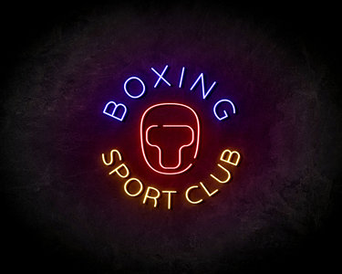 Boxing Sport Club LED Neon Sign - Neon verlichting