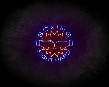 Boxing Fight Hard LED Neon Sign - Neon verlichting