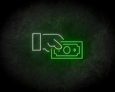 Cash Money Neon Sign - Neonreclame borden