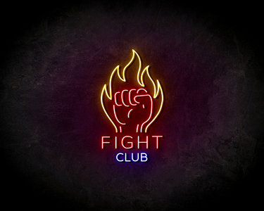 Fight Club Red LED Neon Sign - Neon verlichting