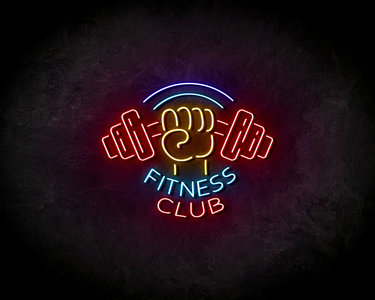 Fitness Club Neon Sign - Licht reclame