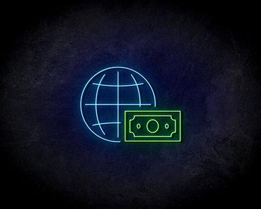 Globe Stock Neon Sign - Neonreclame borden