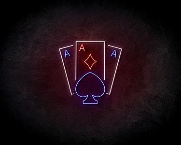 Aces Neon Sign - Neonreclame borden