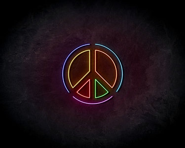 Peace Neon Sign - Neonreclame borden