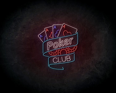 Poker club Neon Sign - Licht reclame