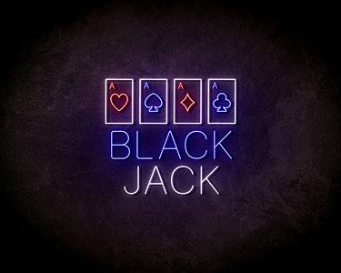 Blackjack LED Neon Sign - Neon verlichting