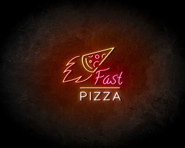 Fast pizza LED Neon Sign - Neon verlichting