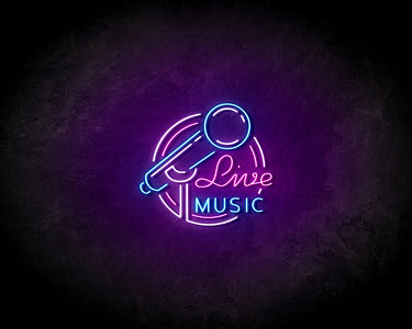 Live music LED Neon Sign - Neon verlichting