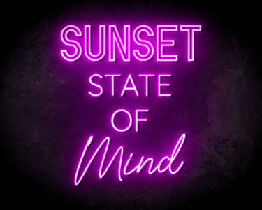 Sunset State Of Mind Neon Sign - Neonreclame borden