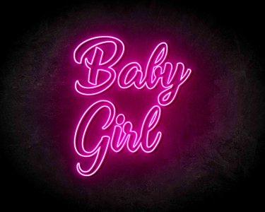 Baby Girl Neon Sign - Neonreclame borden